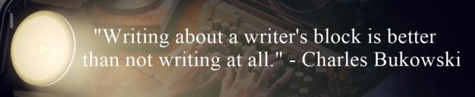 Writing About Writers Block